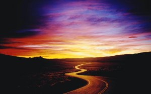 purple-sunset-winding-road
