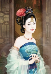 Chinese beauty in traditional costume